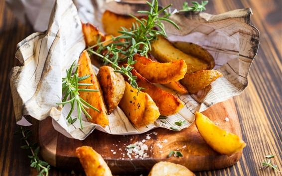 Fond d'écran Pommes de terre au four, tranches