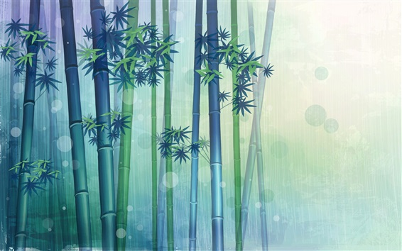 Wallpaper Bamboo forest, vector design