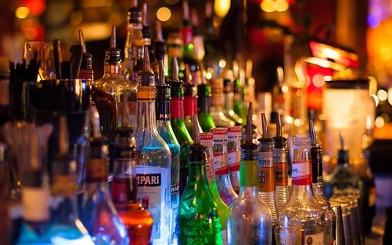 Papéis de Parede Bar, garrafas, bebidas alcoólicas
