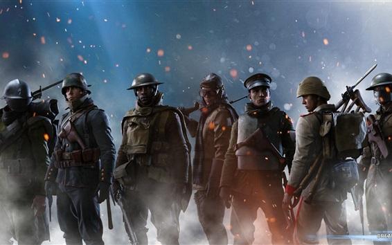 Wallpaper Battlefield 1, soldiers