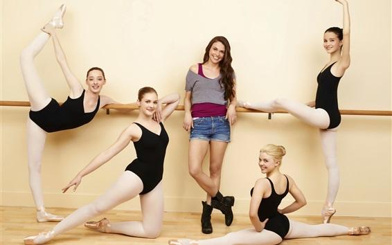 Fond d'écran Belles filles, ballerine, heureux