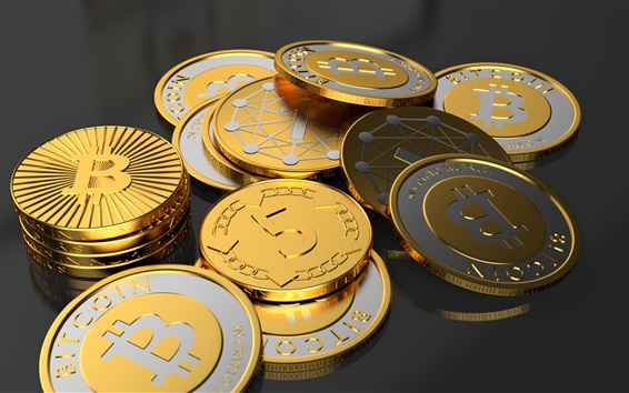 Wallpaper Bitcoin, virtual coin