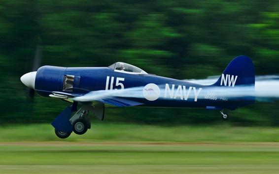 Wallpaper Blue aircraft flight