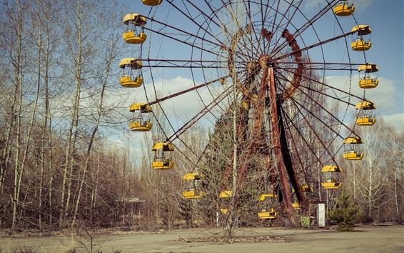 Wallpaper Chernobyl, lost places, ferris wheel