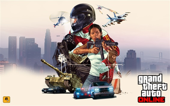 Fondos de pantalla Imagen de arte en línea de GTA