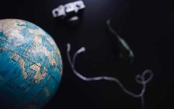 Wallpaper Globe, black background