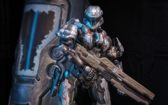 Wallpaper Halo 4, soldier, armor
