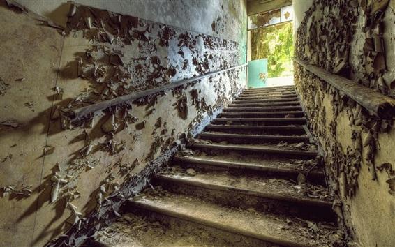 Wallpaper Ladder, gate, ruins