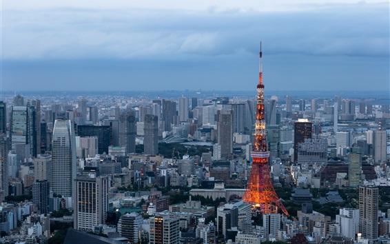 Fondos de pantalla Minato, Tokio, rascacielos, ciudad, Japón