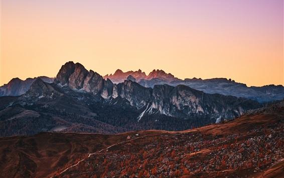 Обои Горы, пики, природный ландшафт, Италия, Альпы