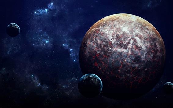 Обои Планеты, лава, научно-фантастические, космические