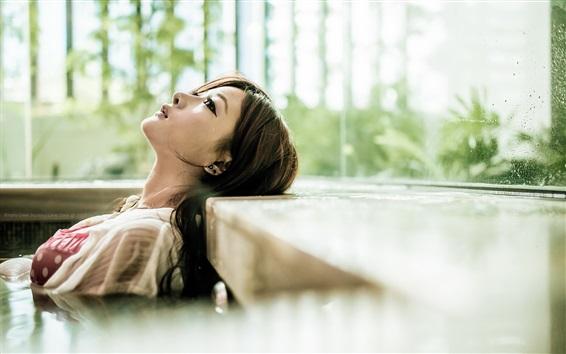 Fond d'écran Tristesse fille asiatique, larme
