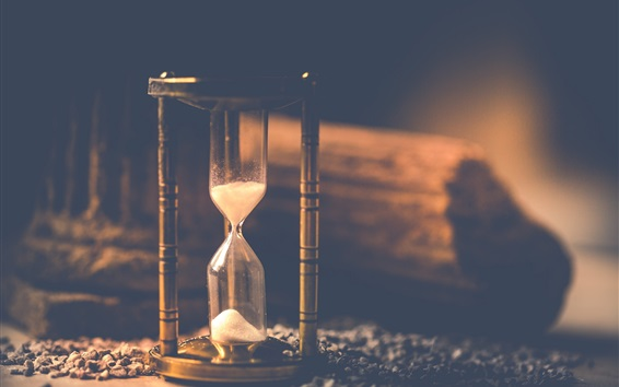 Wallpaper Sand hourglass, time counter