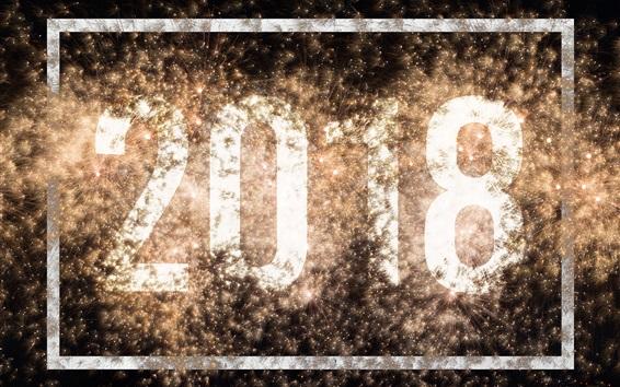Wallpaper Shine 2018, Happy New Year