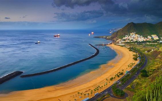 Wallpaper Spain, Tenerife, sea, beach