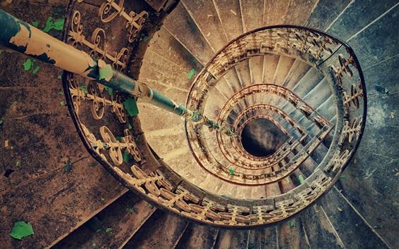 Fond d'écran Escaliers, spirale, poussière