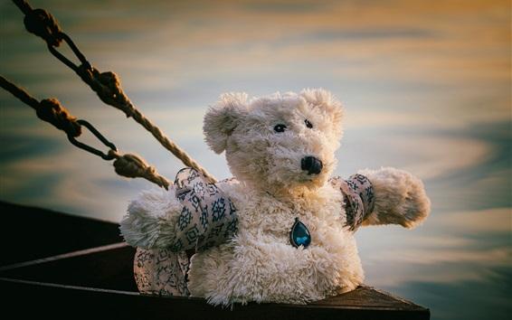 Wallpaper Teddy bear, ropes, Titanic