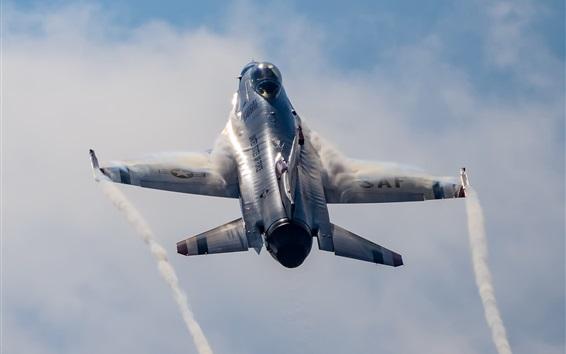Wallpaper Thunderbird fighter flying up