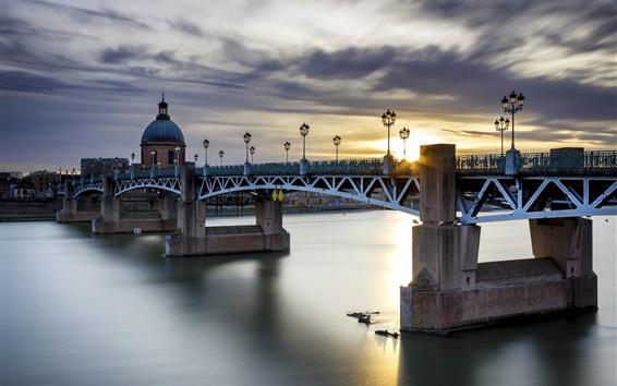 Wallpaper Toulouse, France, bridge, river