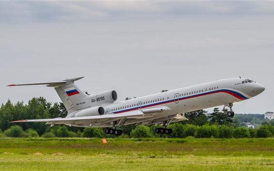 Fondos de pantalla Tupolev, avión Tu-154