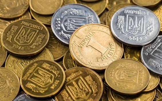 壁紙 ウクライナのコイン、お金