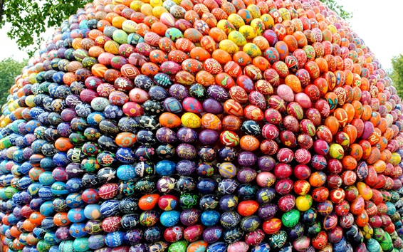 Wallpaper Ukraine, many Easter eggs