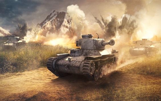 Wallpaper War, tanks, dust
