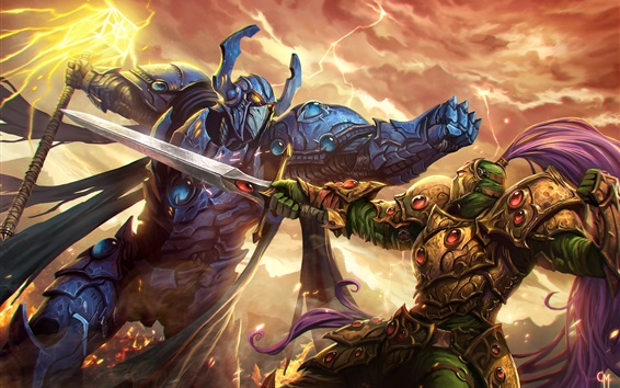 Wallpaper Warriors, fight, armor, art picture