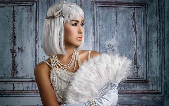 Papéis de Parede Menina de cabelo branco, fã
