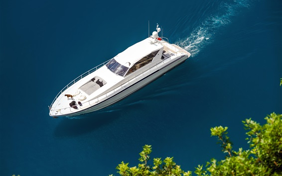 Wallpaper Yacht, water, sea