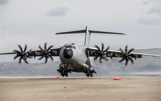 Papéis de Parede Airbus A400M avião de transporte militar