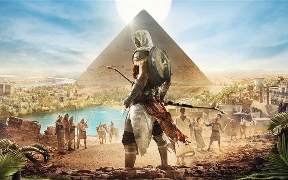 Wallpaper Assassin's Creed: Origins, Egypt, Pyramid