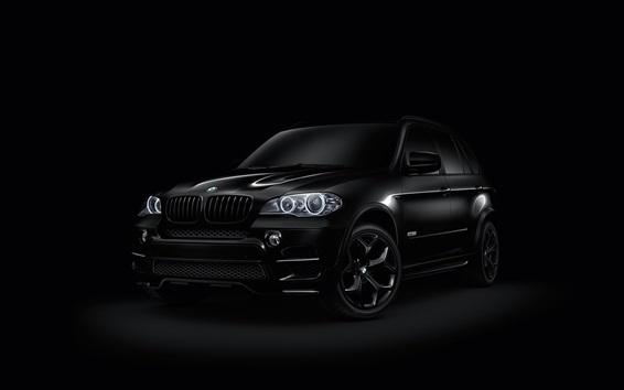 Fond d'écran BMW X6 noir SUV voiture