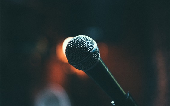 Wallpaper Black microphone