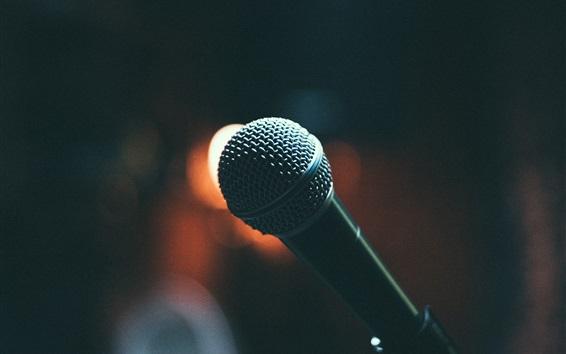 Fond d'écran Microphone noir