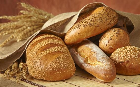 Wallpaper Bread, spikelets, food