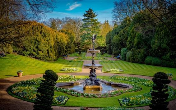 Wallpaper Buckinghamshire, England, park, bushes, trees, lawn