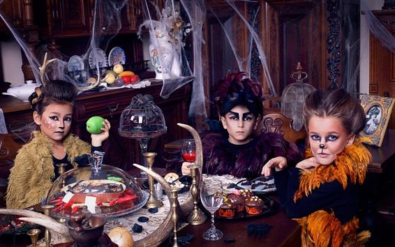 Papéis de Parede Crianças, maquiagem, fotografia de arte