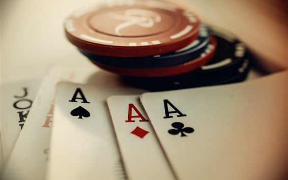 Wallpaper Chips and poker cards