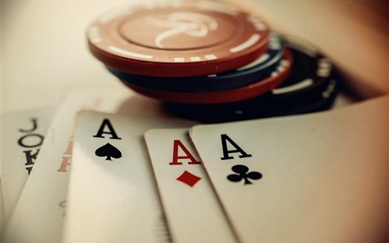 Papéis de Parede Chips e cartões de poker