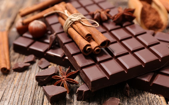 Wallpaper Chocolate and cinnamon