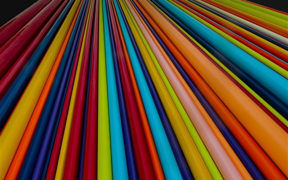 Wallpaper Colorful lines, abstract design