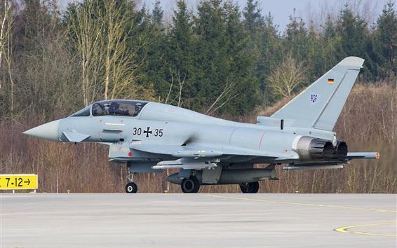 Обои EF-2000 Eurofighter, истребитель взлетает