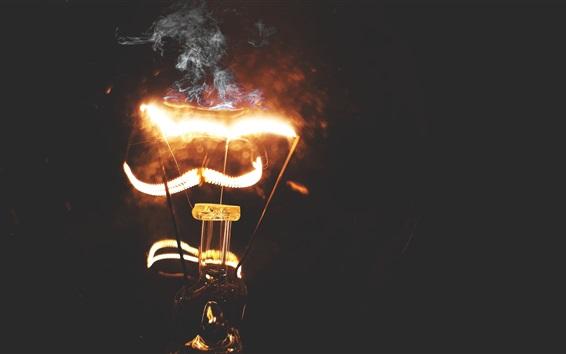 Wallpaper Electricity lamp, lighting, smoke