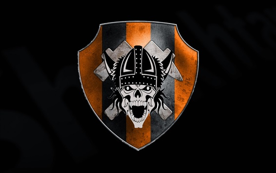 Wallpaper Emblem, skull, black background