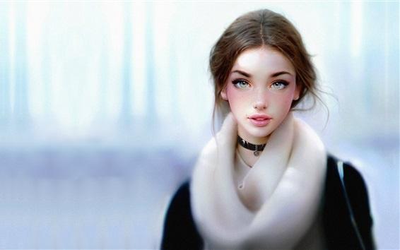 Fondos de pantalla Chica joven de fantasía, invierno