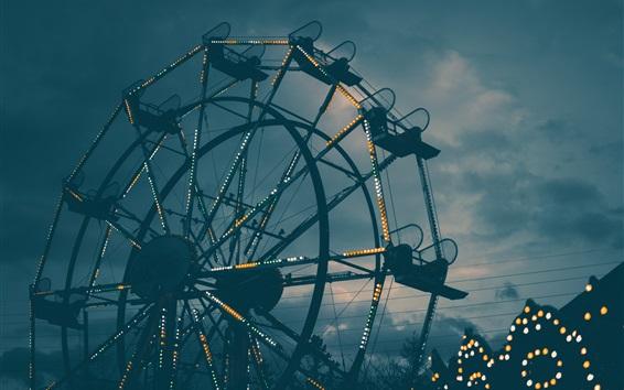 Fond d'écran Grande roue, lumières, nuit