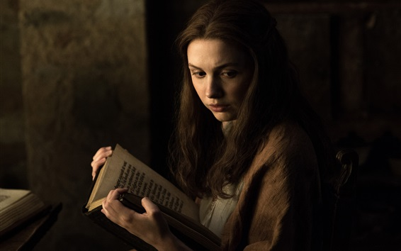 Fondos de pantalla Game of Thrones, niña lee el libro