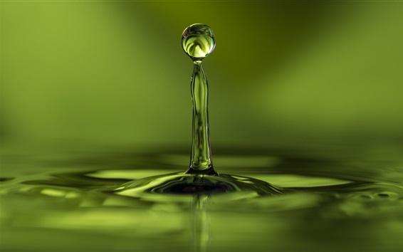 Papéis de Parede Verde, vôo de queda de água, onda