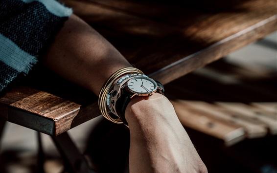 Wallpaper Hand, watches, light